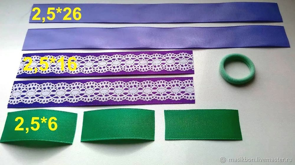 ribbon bow, kanzashi, hair bows, decoration proeski, needlework, own hand