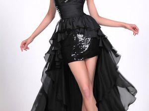 Чёрное свадебное платье — стильно, изящно, благородно. Ярмарка Мастеров - ручная работа, handmade.