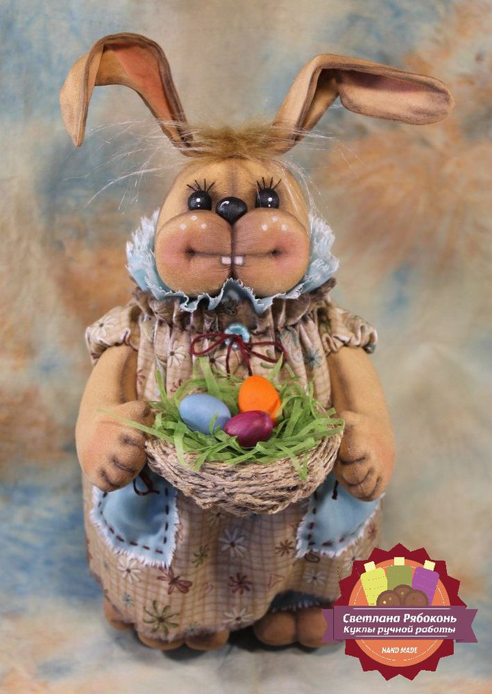 зайка, пасхальный заяц, пасхальный кролик, светлая пасха, подарок на пасху, пасха, мк, мастер-класс, pdf, заяц, светлана рябоконь