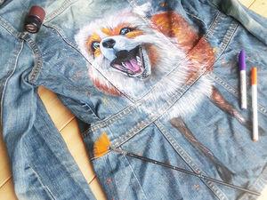 Расписываю джинсовки, рюкзачки и сумки. Ярмарка Мастеров - ручная работа, handmade.