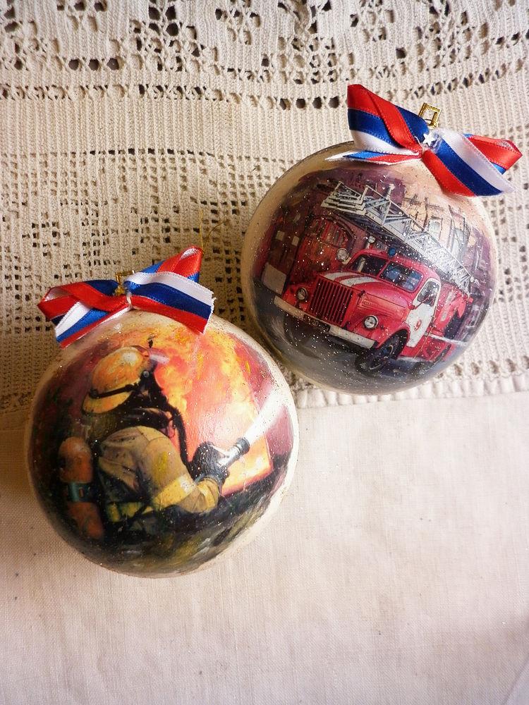 шарики новогодние, декупажные подарки