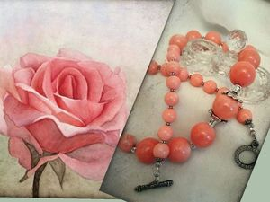 """Колье """"Розовый ангел""""! Представляем!. Ярмарка Мастеров - ручная работа, handmade."""