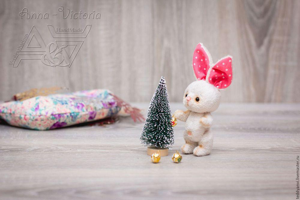 подарок 2017, зайка, тедди, новый год, новый год 2017, подарок, подарок на новый год, teddyanvi