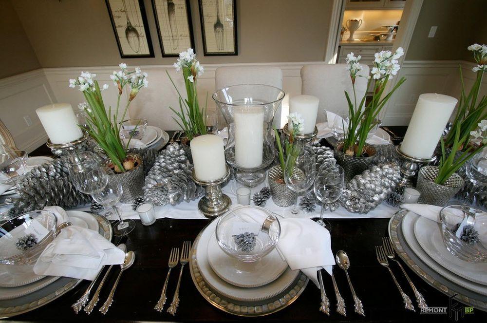 Новогодняя сервировка стола в домашних условиях