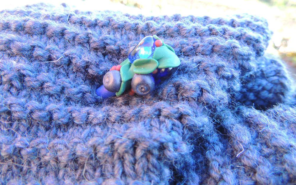 вязаный шарф, идея, уникальный, авторский
