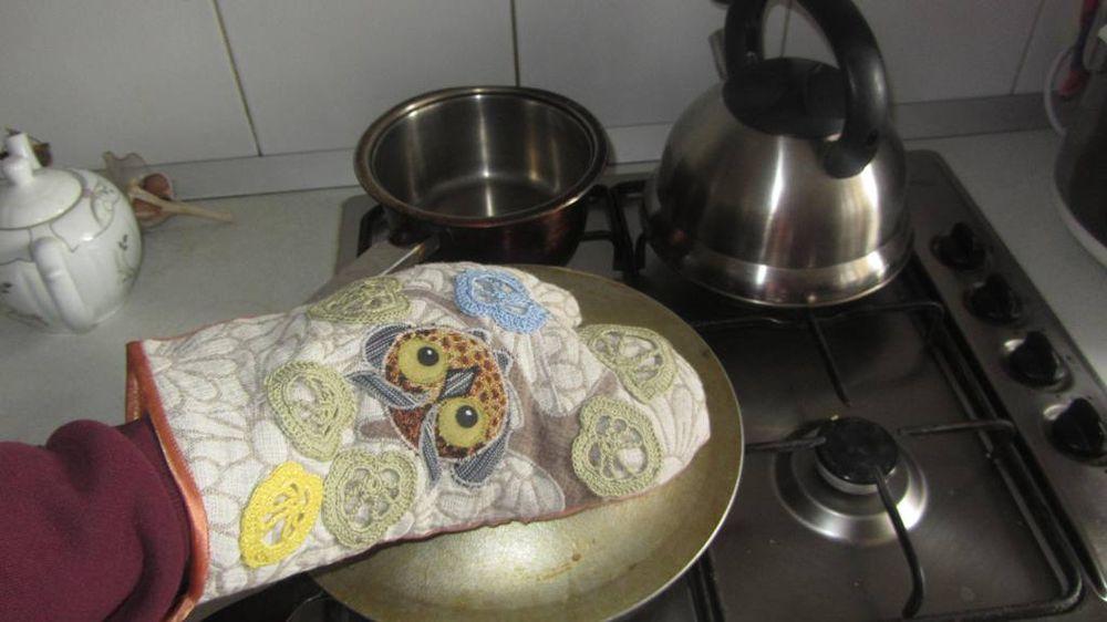 сова, декор, рукавица