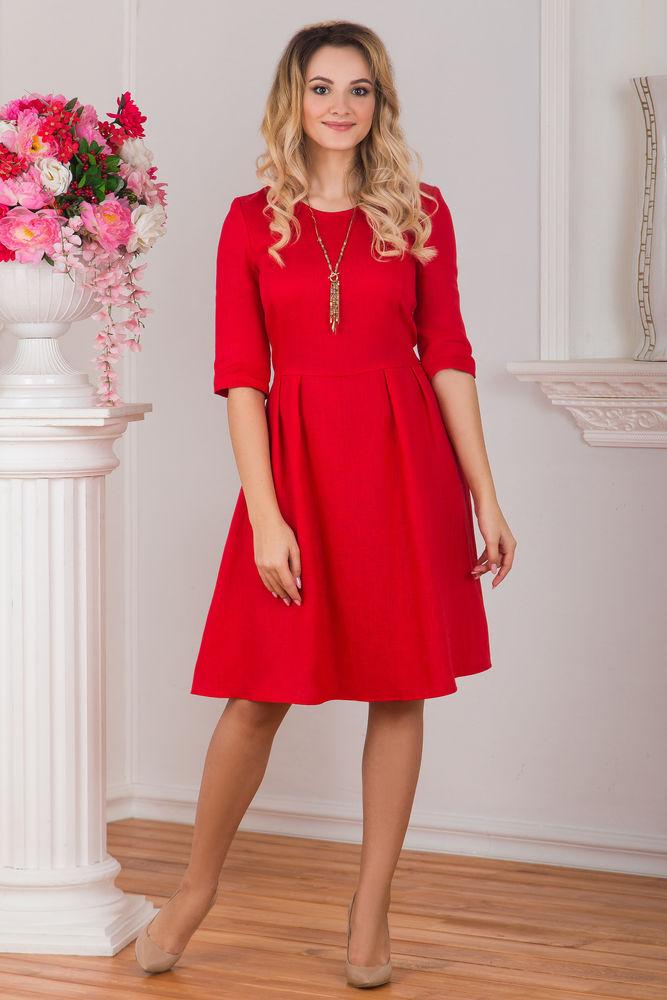 льняное платье, русский стиль