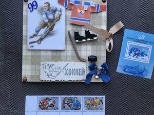 Новое оформление открытки для хоккеиста. Ярмарка Мастеров - ручная работа, handmade.