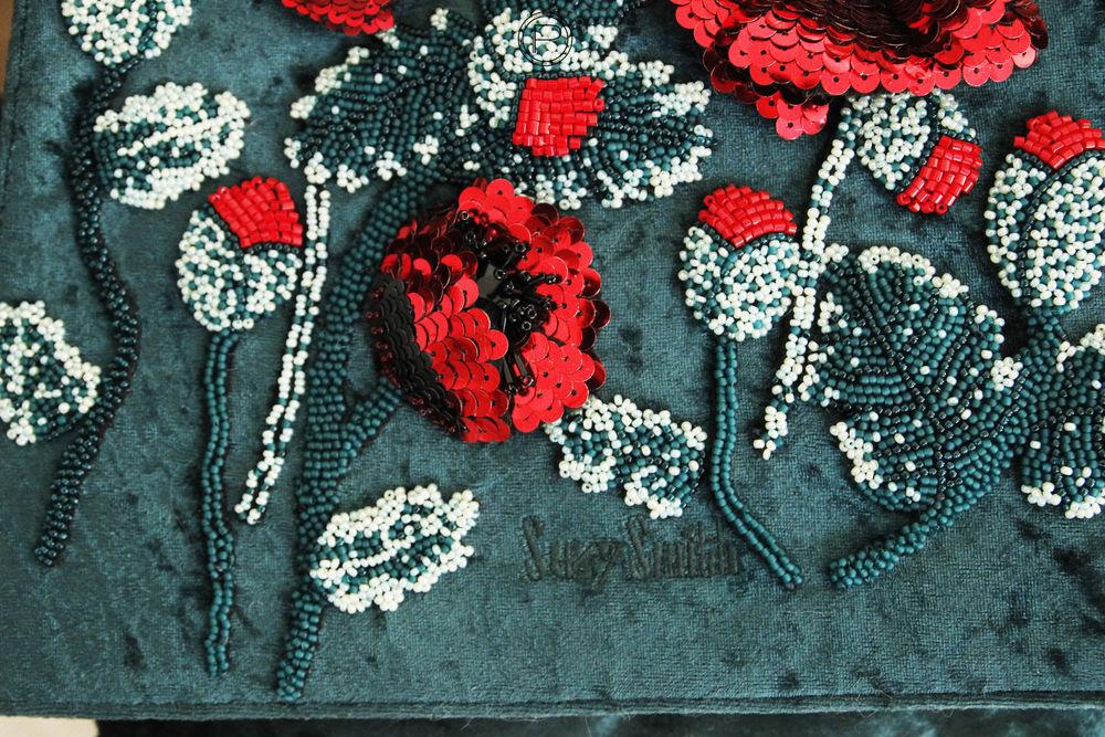 скоро в продаже, сумка, сумка женская, вышивка бисером, вышивка на сумке, маки, цветы из пайеток, iren pari