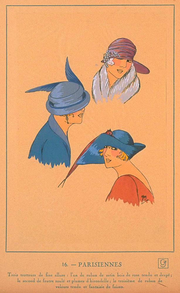 Ах, какие шляпки! Шляпная мода 1922 года по версии французского журнала «Les chapeaux du Tres parisien». Часть 2, фото № 18