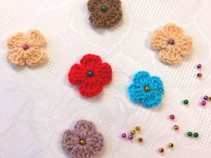 Как просто связать крючком цветочек. Ярмарка Мастеров - ручная работа, handmade.