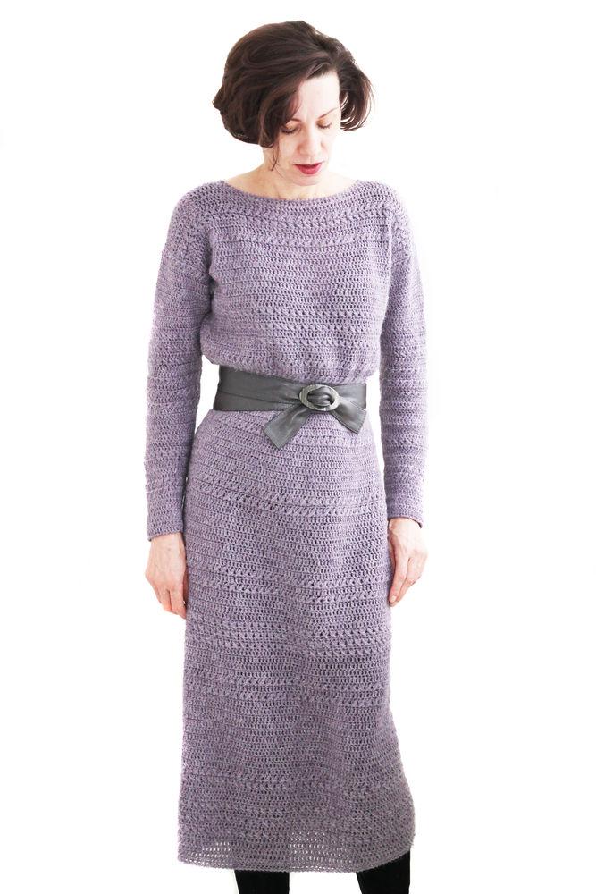 платья ручной работы, элегантное вязаное платье