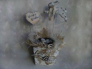 Создаем пасхальную винтажную композицию. Ярмарка Мастеров - ручная работа, handmade.