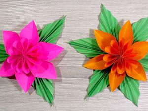 Красивый цветок из бумаги: видео мастер—класс. Ярмарка Мастеров - ручная работа, handmade.