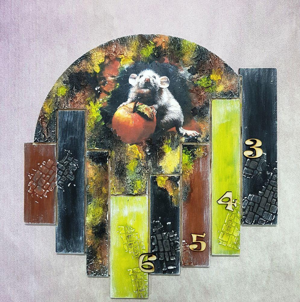 Часы с рельефом и объемными элементами,МК подходит для начинающих!, фото № 7