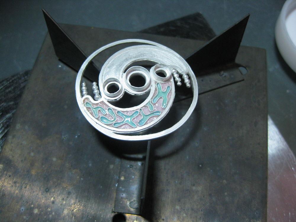 творческий процесс, серебряный браслет