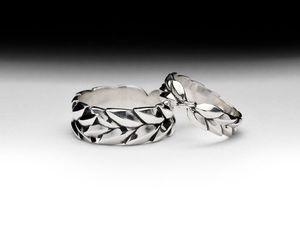 Обручальные парные кольца Лавровая ветвь, серебро 925 пробы. Ярмарка Мастеров - ручная работа, handmade.