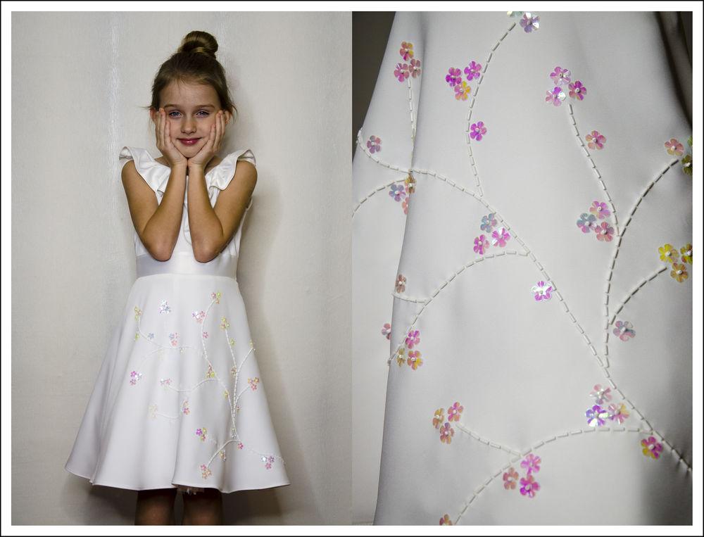 платье, платье для девочки, платье с вышивкой, видео, видеоролик