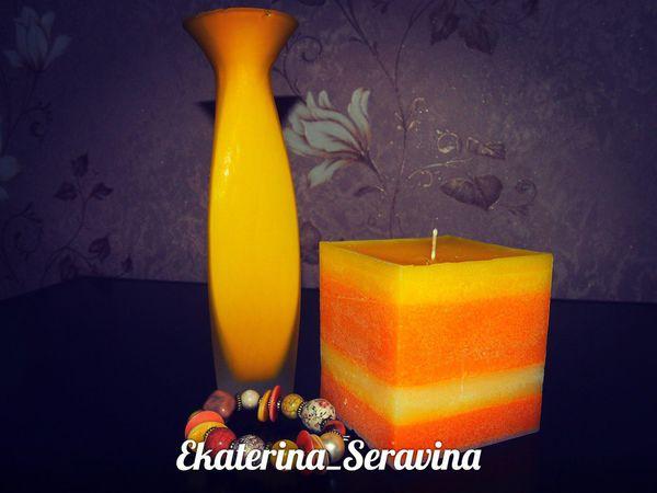 Изготовление парафиновой свечи | Ярмарка Мастеров - ручная работа, handmade
