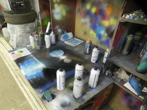 Техника рисования «spray paint art». Ярмарка Мастеров - ручная работа, handmade.
