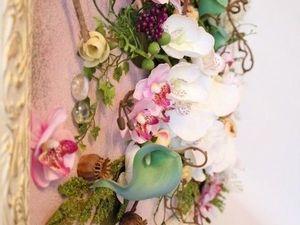 Новинка! Флористическое панно 3D   Ярмарка Мастеров - ручная работа, handmade
