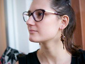 Crafting Chiseled Earrings. Livemaster - handmade