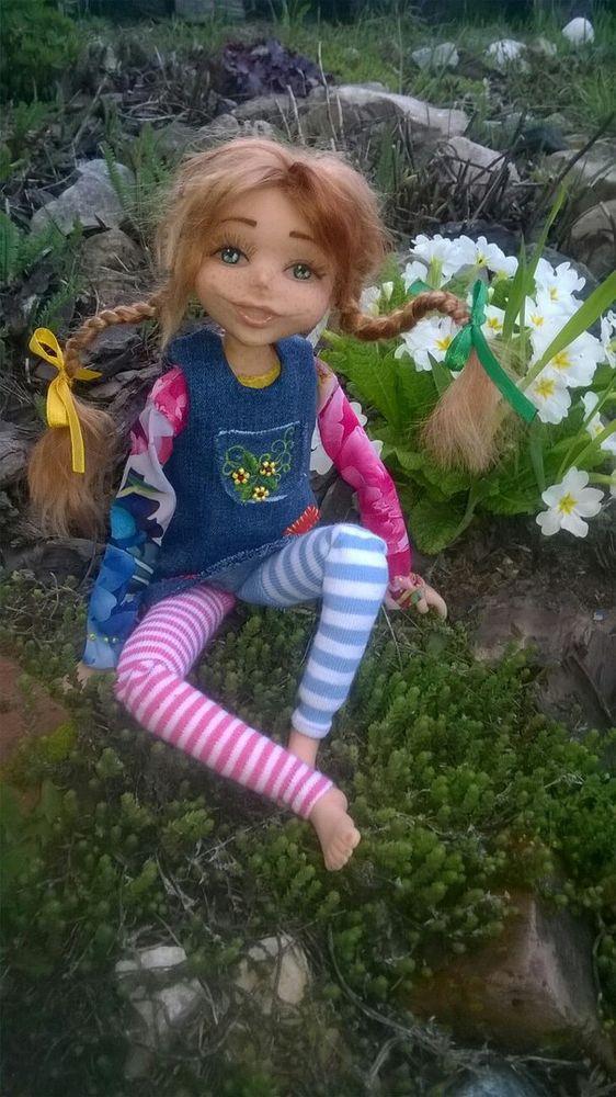 астрид линдгрен, рыжая девочка, будуарная кукла