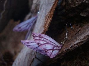 Аукцион с НУЛЯ на шёлковые серьги бабочки с флюоритом. Ярмарка Мастеров - ручная работа, handmade.