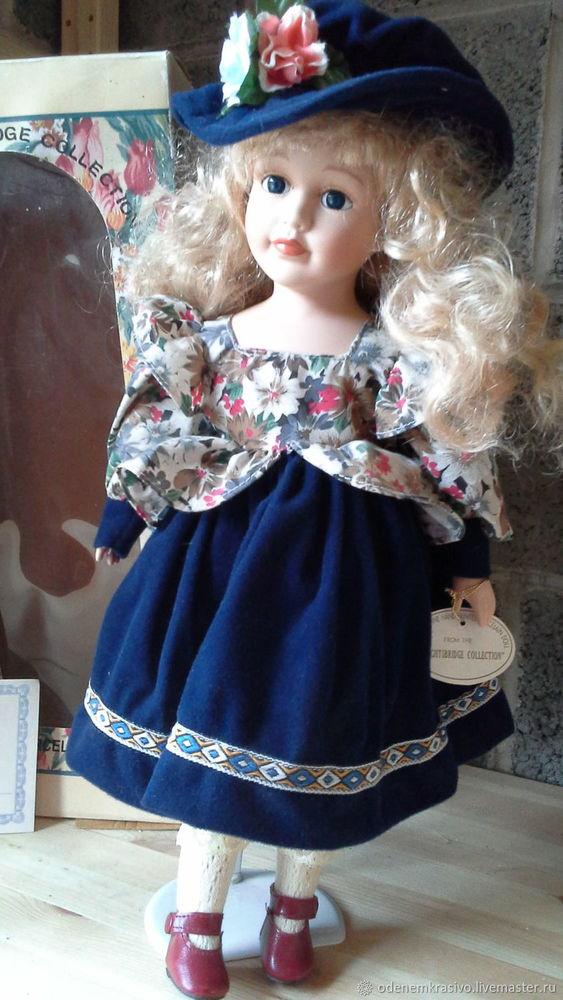 коллекционные куклы, соломенная шляпка