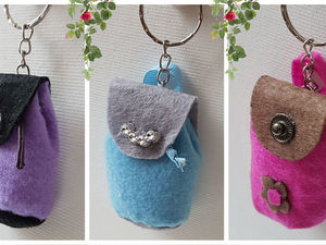 2 очень легких способа сделать оригинальный брелок-сумку. Ярмарка Мастеров - ручная работа, handmade.