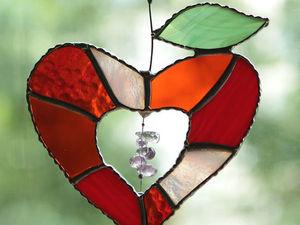 Для любимых! Вот такое волшебное сердце с аметистами.   Ярмарка Мастеров - ручная работа, handmade