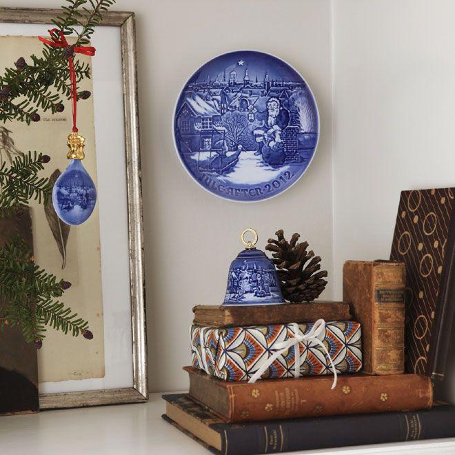 Christmas Drop, Plate & Bell in the 2012 Royal Copenhagen Catalogue