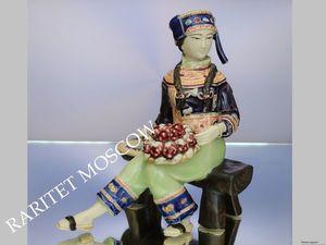 РАРИТЕТИЩЕ Японка фарфор антикварная статуэтка 12. Ярмарка Мастеров - ручная работа, handmade.