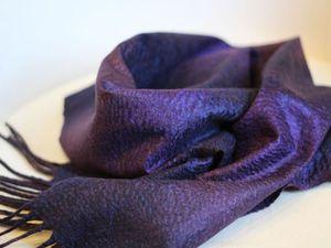 Мастер-класс. Валяем мужской шарф с шёлковым декором | Ярмарка Мастеров - ручная работа, handmade