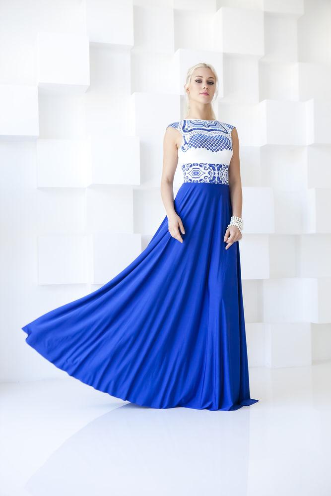 аукцион, аукцион сегодня, аукцион на платье, распродажа, скидка, синее платье, платье в пол, нарядное платье