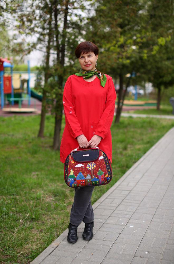роспись сумки акрилом, точечная роспись