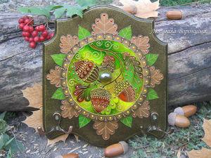 Создаем ключницу с эффектом чеканки «Подарок осени». Ярмарка Мастеров - ручная работа, handmade.