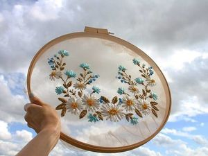 Flying Under the Sky: Light Embroidery from Krista Decor. Livemaster - handmade