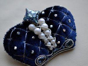 Новая брошь для императрицы Blue Crown. Ярмарка Мастеров - ручная работа, handmade.