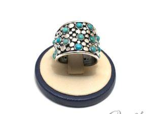 Серебряное кольцо с бирюзой (видео). Ярмарка Мастеров - ручная работа, handmade.