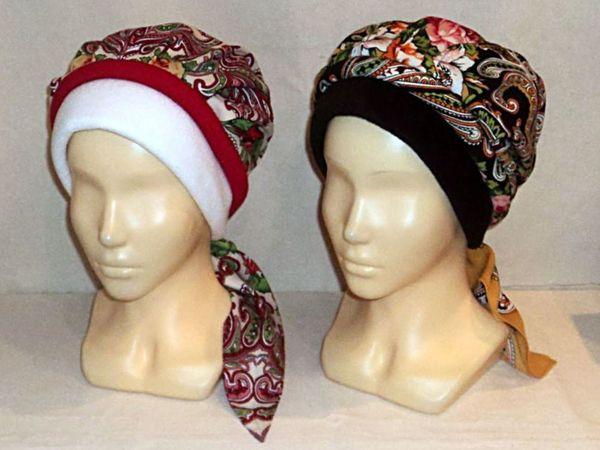 Теплые Повойники от  Светланы (шапочки) | Ярмарка Мастеров - ручная работа, handmade