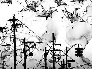 Чёрно-белые картины Nanami Cowdroy. Ярмарка Мастеров - ручная работа, handmade.