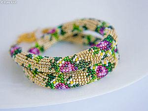 Making a Beaded Crochet Rope. Livemaster - handmade