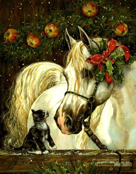 Яндекса отправить, открытки для нового года с лошадь
