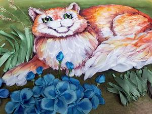 Всем любителям котиков! И кошечек! :) Новая работа в моем магазинчике. Ярмарка Мастеров - ручная работа, handmade.