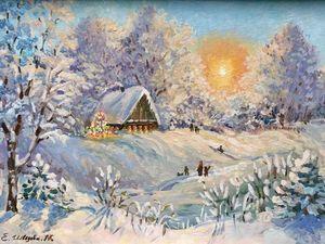 Время чудес и подарков! Картина в подарок. Розыгрыш.. Ярмарка Мастеров - ручная работа, handmade.