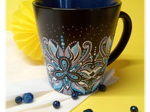 DIY Project on Dot Painting a Cup. Livemaster - handmade