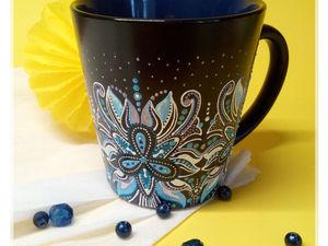 Мастер-класс: роспись чашки контурами. Ярмарка Мастеров - ручная работа, handmade.