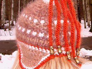 Акция!!! – скидка 50%  на комплект  «ЗЕНА» авторской ручной работы --- шапку женскую вязаную, шарф ,митенки ! | Ярмарка Мастеров - ручная работа, handmade