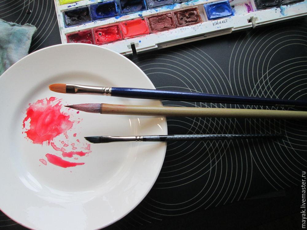 акварелью нарисовать, смешивать краски